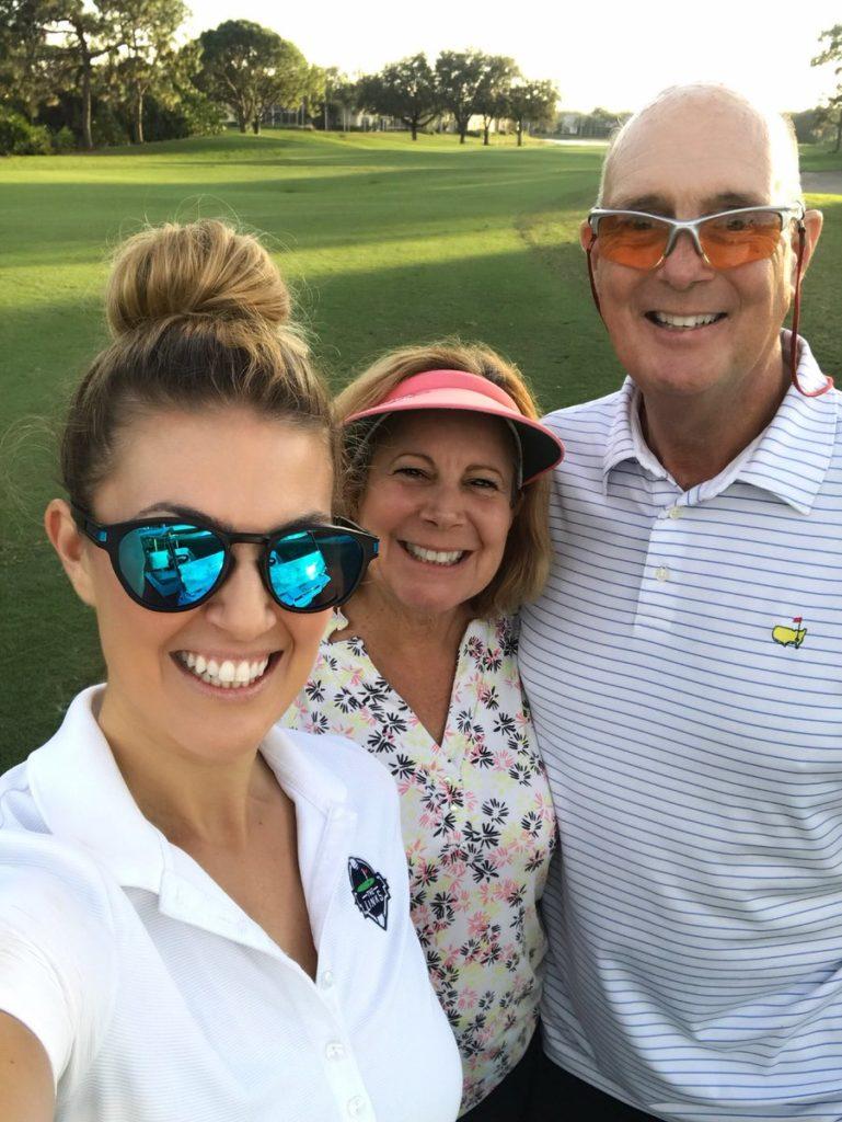 Amanda with her Parent