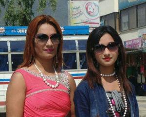 Archan Paneru with mother Sunita Paneru