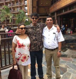 Arthur Gunn with parents