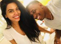 Suri with boyfriend Dwayne Bravo