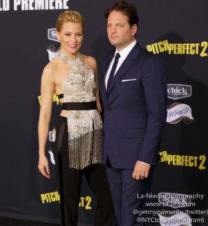 Elizabeth Banks with husband