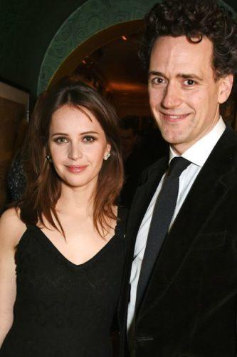 Felicity Jones with husband