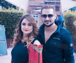 Sanchita luitel with nikhil upreti