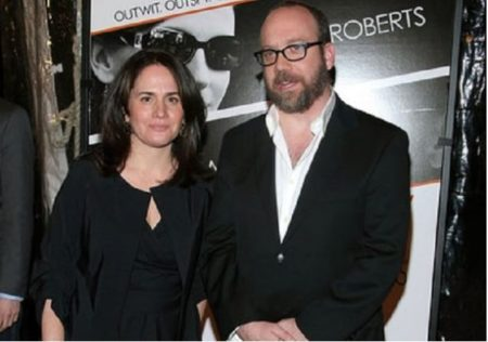 Paul Giamatti with wife