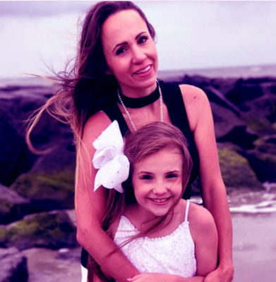 Piper with her mother
