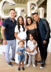 Timothy Mowry with his family