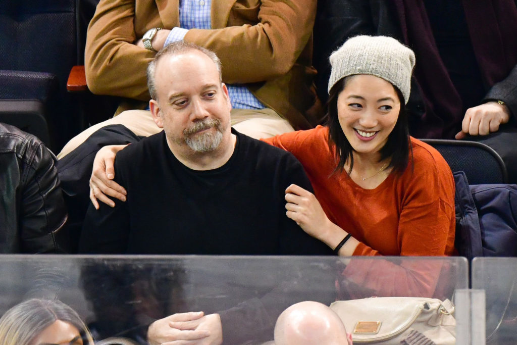 Paul Giamatti with his new girlfriend