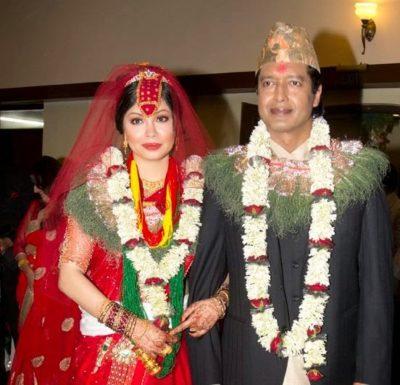 Rajesh Hamal with madhu Bhattari- wife