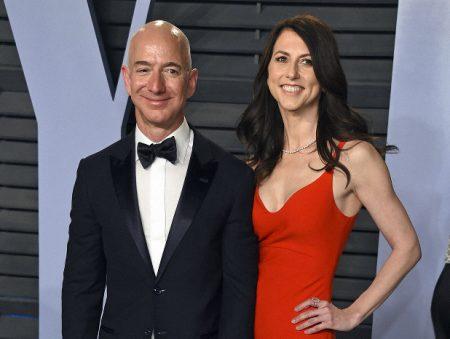 mackenzie bezos with Jeff Bezos